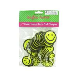 Foam happy face craft shapes   Pack of 72 Toys & Games