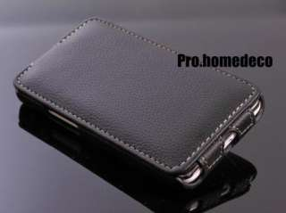 Black Premium Full Protection Leather Flip case cover (Samsung Galaxy