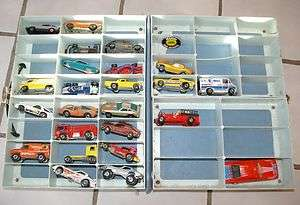 80s Vintage Hot Wheel cars and collector case & One red line