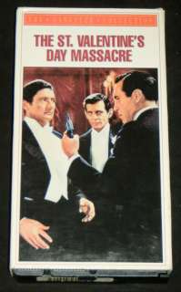 ST. VALENTINES DAY MASSACRE, CBS/Fox 1991 VHS, Gangster