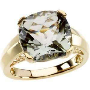 Yellow Gold Checkerboard Green Quartz Ring Diamond Designs Jewelry