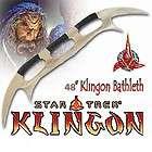 star trek klingon batleth 48 battle axe wooden stand returns