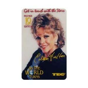 Collectible Phone Card 10u As The World Turns TV Show   Eileen Fulton