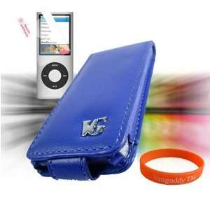 (5G Video) Premium **VG BRAND** Leather Flip Case Cover **BLUE