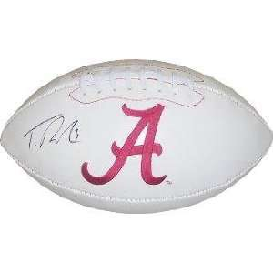 Trent Richardson signed Alabama Crimson Tide Logo Football