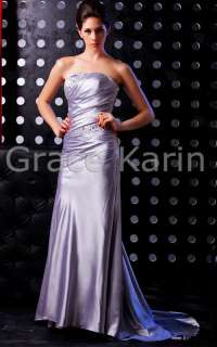 2012 FV9 Silver Formal long prom dress ball gown evening dress size 6