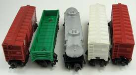 Lionel Lines Trains Postwar Box Car Gondola Tank 6014 6142 6465 X6014