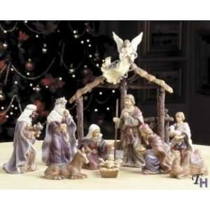 ROYAL DOULTON 11 PIECE LARGE CHRISTMAS NATIVITY SET