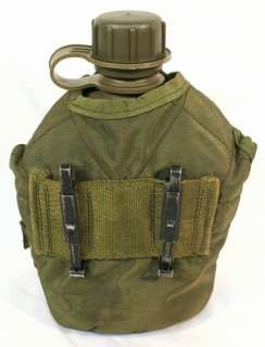 NICE USGI Military US Army 1 QT OD CANTEEN w/ 1QT COVER, CUP & STAND