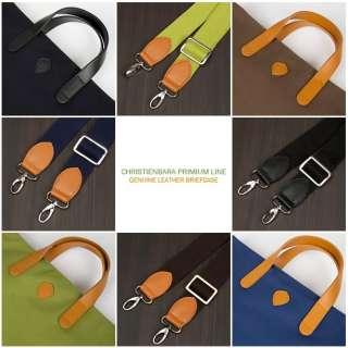 Mens & Womens Genuine Leather Briefcase Tote Bag JL031US Black Brown
