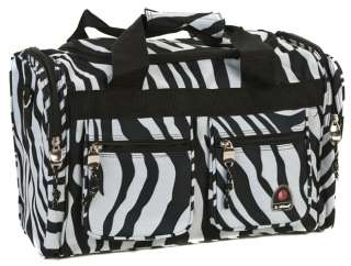 ROCKLAND BEL AIR CARRY ON TOTE DUFFLE BAG   ZEBRA $40