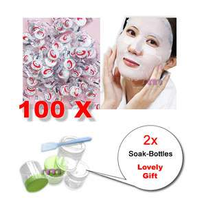 Beauty Compressed Paper Mask DIY Face Facial Skin Care + Lovely Gift