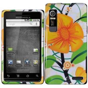 For Verizon Notorola Droid 3 Xt862 Accessory   Yellow Flower Design