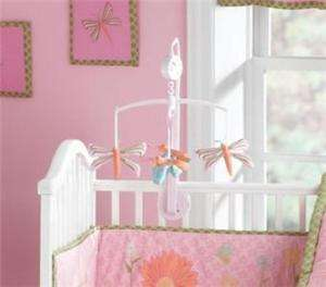 DRAGONFLY Pink Nursery Mobile Butterfly Garden