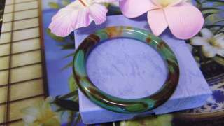 57mm CHINESE JADE BANGLE MULTI COLOR AGATE