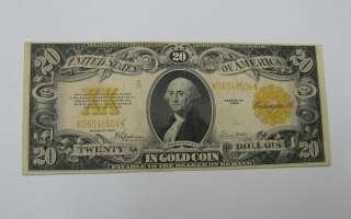 1922 $20 Gold Certificates Twenty Dollars Note XF |