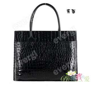 Fashion Luxury OL Style Crocodile Pattern High Quality Handbag Tote