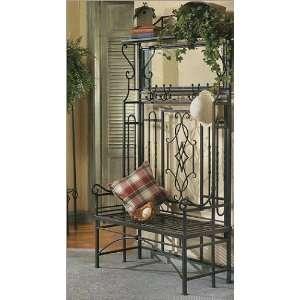 Bago Luma Hall Iron Bench and Storage Rack WSF040