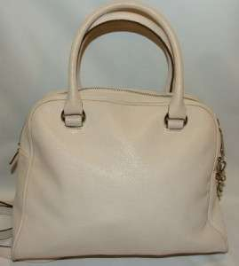 Michael Kors Joan Knox Satchel Bag Purse Handbag Vanilla Leather