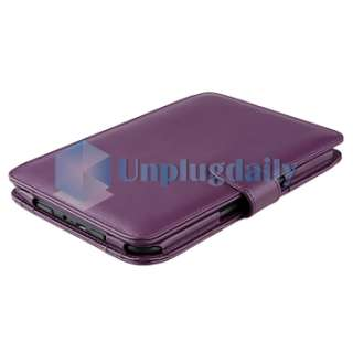 Purple Leather Carry Skin Case Cover PouchFor  Kindle 3 3G