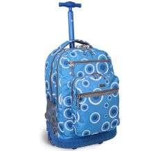 Sundance Blue Target 19.5 inch Rolling Backpack with Laptop Sleeve