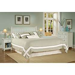 Home Styles Arts & Crafts White Queen/Full Headboard Night Stand and