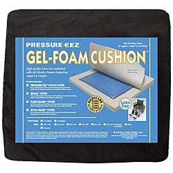 Hudson Pressure Eez Gel foam Seat Cushions (18x18x2) (Pack of 4