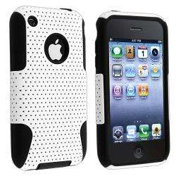 Skin/ White Mesh Hybrid Case for Apple iPhone 3G/ 3GS