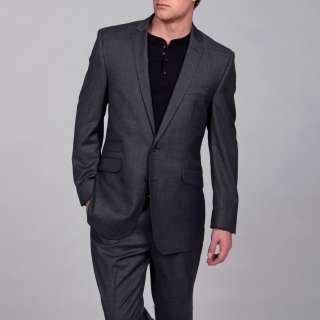 Ben Sherman Mens Slim Fit Wool 2 button Suit