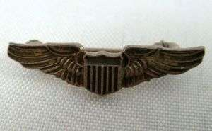 US Air Force Aviation Wing Insignia Pin Vietnam Era Major General