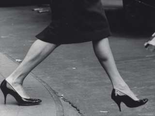 Woman Walking in Spike Heels Premium Photographic Print by James Burke