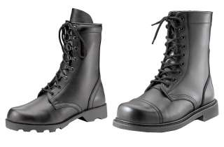 Military Army Work Black Leather Men Women Combat Boots