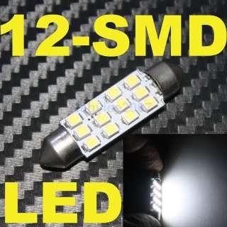 Dome 42mm 12 SMD LED Bulb Car Interior Lamp White Festoon License