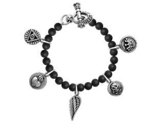 KING Queen BABY STUDIO Onyx Vintage Coin charm bracelet