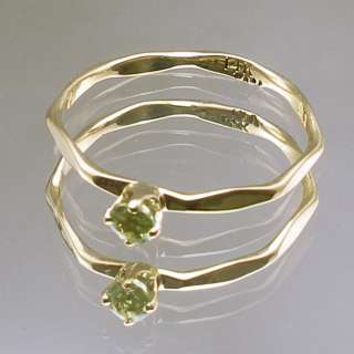 Peridot Baby Ring, Hand Crafted 14k gold, August Birth