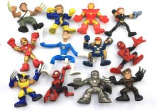 FREE SHIP Lot 12 X Marvel Super Hero Squad X Men Spider Man Iron Man