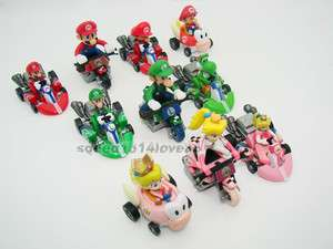 10PCS Super Mario Bros 1.5 2 Kart Pull back Car # MR61
