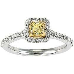 18k Gold 3/4ct Fancy Yellow Diamond Ring (I, SI)
