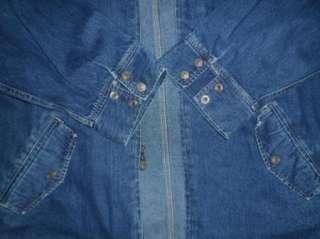 rare LEVIS 98 wmns XXL Oversized Jean Jacket Shirt Full Zip zipper