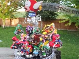 Mario Kart Cake Topper Birthday Party Centerpiece Cupcake Display