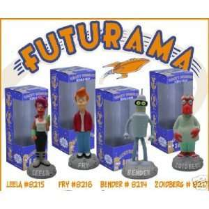 Piece Wacky Wobbler Bobble Head Set Bender Fry Zoidberg Leela