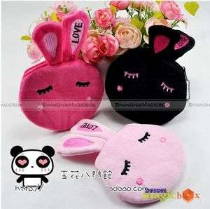 Women Kids Cute Rabbit Key Coin Bag Wallet Purse #255
