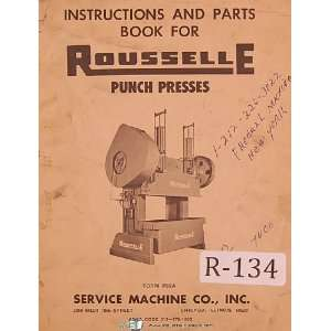 Service Operators Instruction & Parts List Manual Rousselle Books