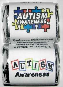 AUTISM AWARENESS CANDY WRAPPERS FAVORS