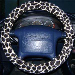 GIRAFFE PRINT CAR STEERING WHEEL COVER