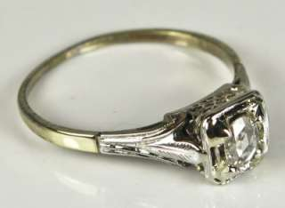 Nouveau 14k Gold 1/3ct F SI Genuine Rose Cut Diamond Engagement Ring