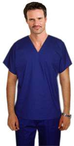 New PLUS SIZE Reversible Medical Scrub Set with 4 Pockets and a V Neck