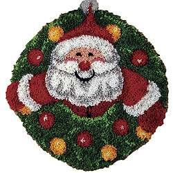 Wonderart Santa Wreath Latch Hook Kit