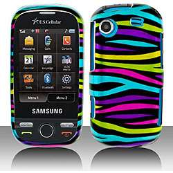 Rainbow Zebra Samsung Messager Touch Protector Case