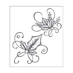 Heartfelt Creations Cling Rubber Stamp Set 5X6.5 Elegant
